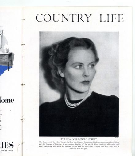 1942 COUNTRY LIFE Magazine ZARA STRUTT Berwick BRADFIELD HALL NORFOLK (0632)